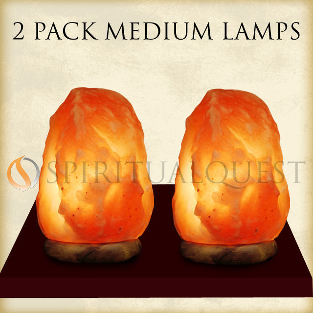 2-Pack of Medium Salt Lamps -7-8 inches tall