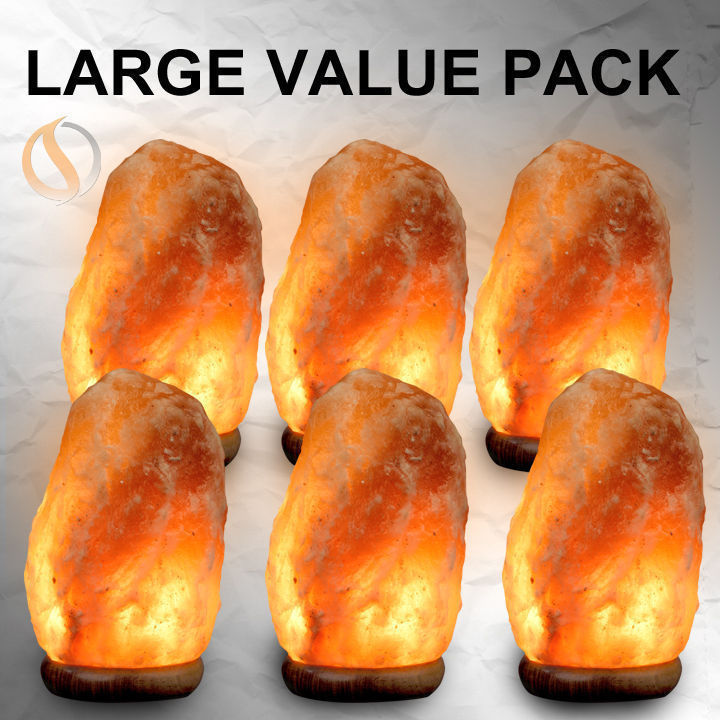 6 large salt lamps Package deal free shipping.