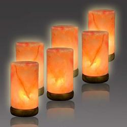 Pizaz Pillar Salt Lighting (6-8 lbs Salt Lamps)