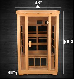 Duet Himalayan Salt Cave Infrared Sauna (2 Person) - 48x48x75""