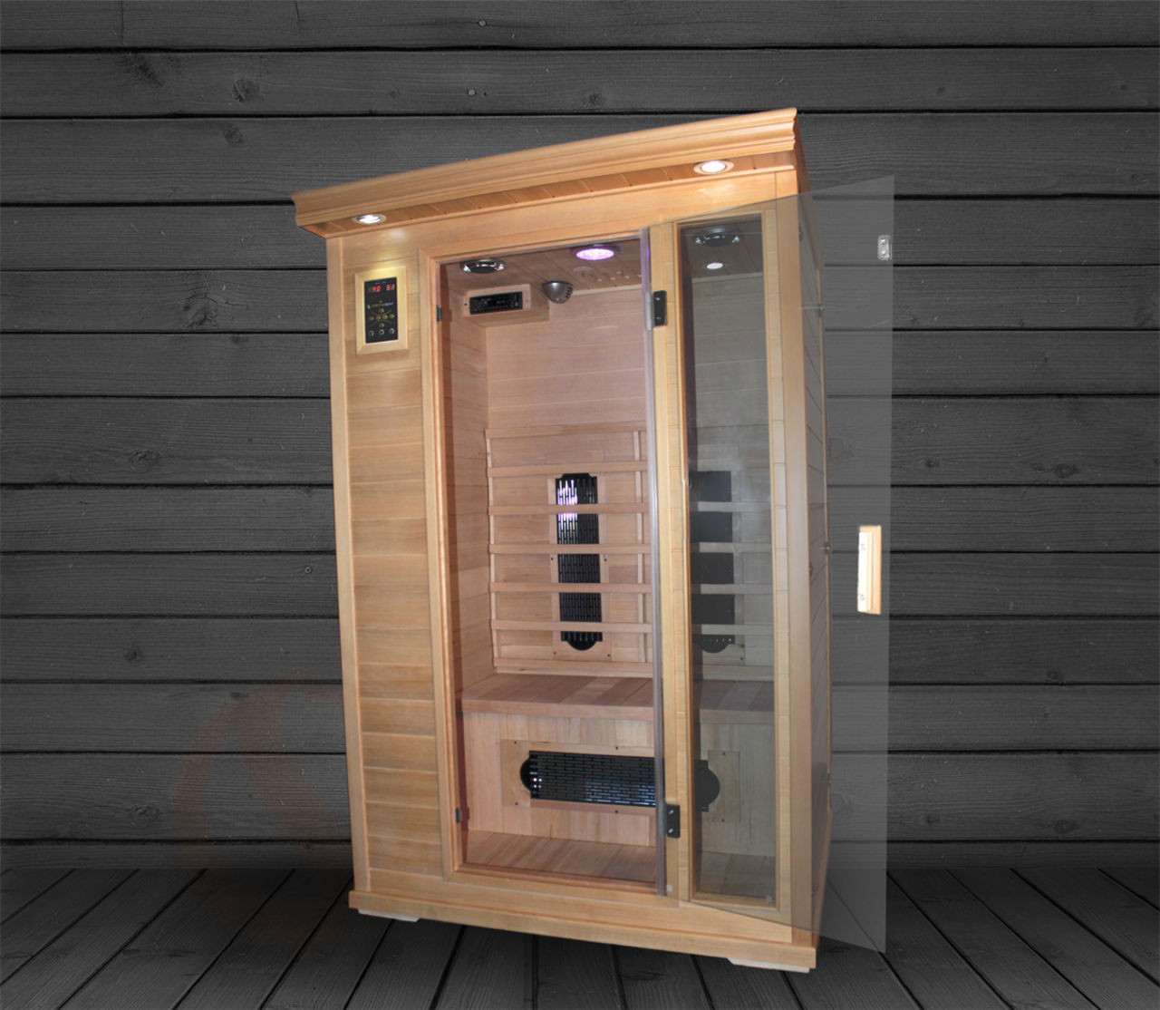 Executive Two Person Infrared Sauna - Ultra Low EMF - 48x42x75""