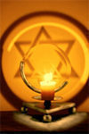 Star of David Projection Candle Holder