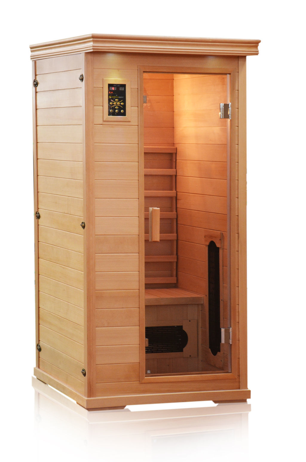 Executive Single Person Infrared Sauna - Ultra Low EMF - 36x36x75""