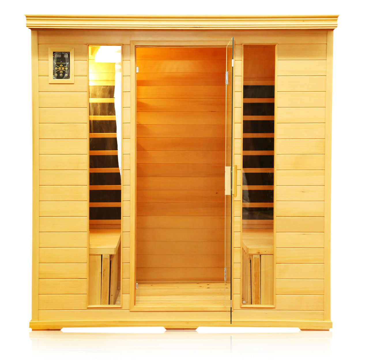 chorus himalayan salt cave infrared sauna 4person 71x48x74 - Infared Sauna
