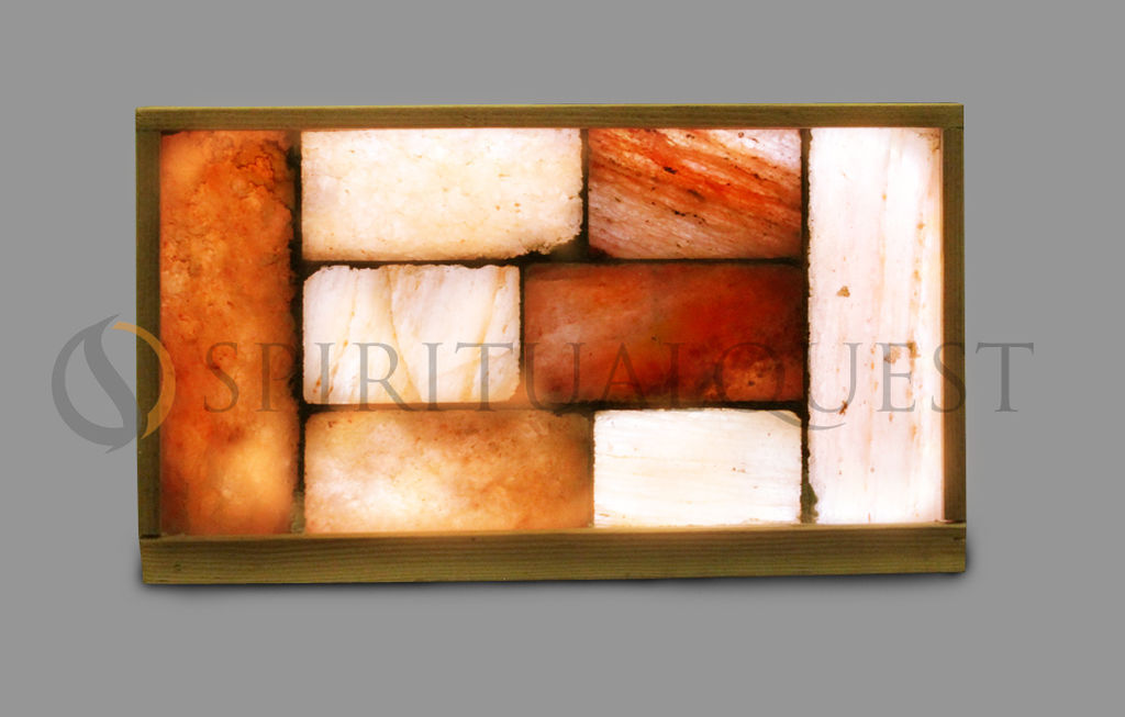 Himalayan Salt Brick Wall with Lighting Complete Plug In Play!