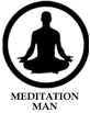 Meditation Man Projection Slide