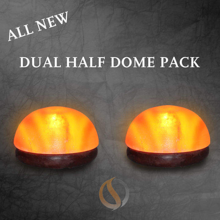 Salt Lamp Detox -2 Half Dome Salt Lights 12-15 lbs each