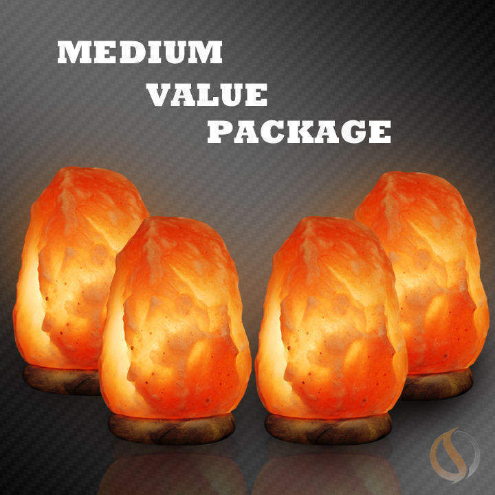 Medium Salt Lamp Value Pack Buy 3 get one Free