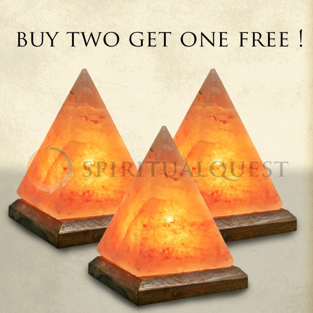 Value Pack - Buy 2 Salt Lamp Pyramids, Get 1 Free!