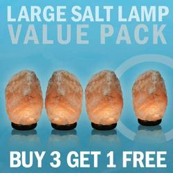 Large Salt Lamp Value Pack Buy 3 get one Free