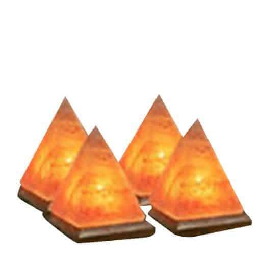 salt lamp pyramide value pack of 4 himalayan lamps