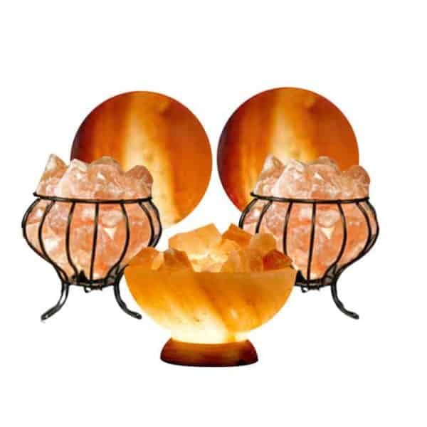The Classic Himalayan Salt Lamp Gift Set 5 Piece Value/Gift Pack