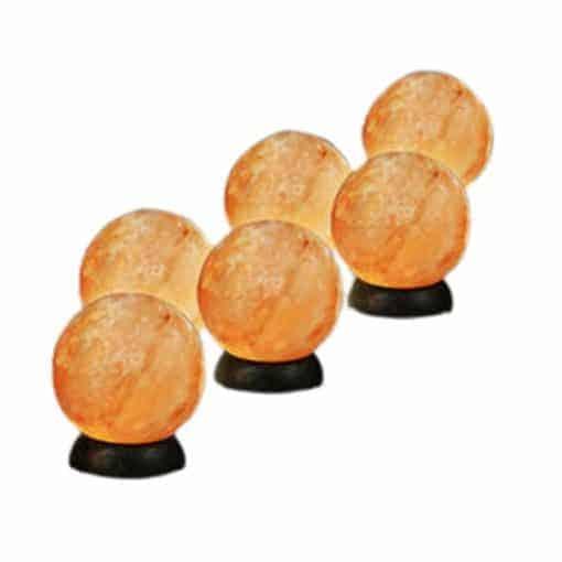 salt lamp spheres himalayan globe