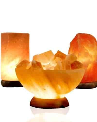 pillar salt lamp bowl salt lamp and medium salt lamp package deal