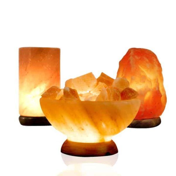 pillar salt lamp bowl salt lamp and medium salt lamp package deal
