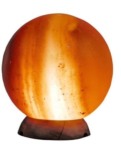 sphere globe ball salt lamp