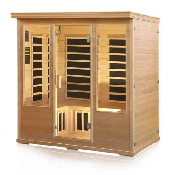 Chorus 4 Person Carbon Fiber Infrared Himalayan Salt Cave Sauna