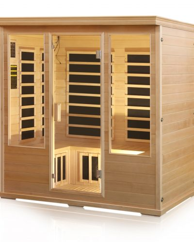 4 person infrared sauna himalayan salt cave