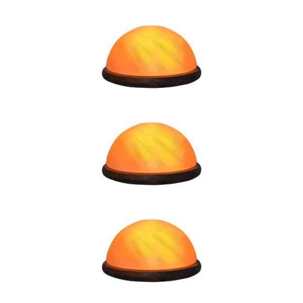 three dome buddha salt lamp pack