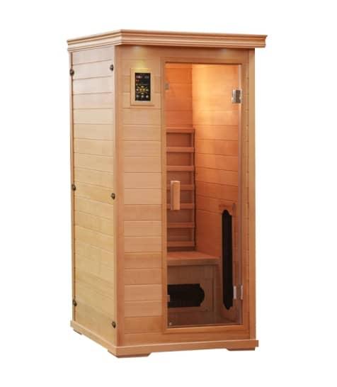himalayan salt cave sauna single infrared system