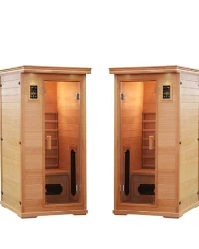 2 single sauna salt caves with himalayan salt spa pack
