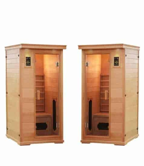 2 single sauna salt caves with himalayan salt spa pack
