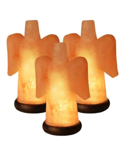 Angel Salt Lamp Value Pack of three Himalayan salt angels