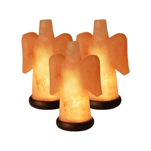 Angel Salt Lamp Value Pack of three Himalayan salt angels