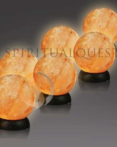 """Salt Globe Himalayan Salt Sphere 8-9"""" tall 8-9lbs Himalayan Salt Ball"""