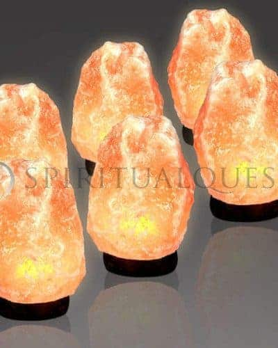 "Medium Salt Lamp 6-8""inches tall (4.5-6 lbs)"