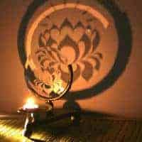 Lotus Flower Projection Candle Holder