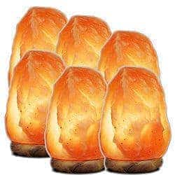 6 medium salt lamps Himalayan
