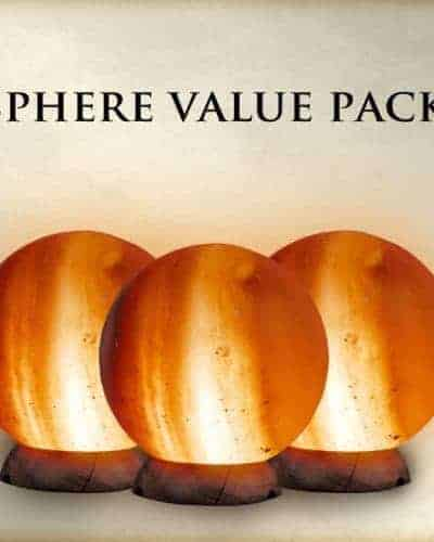 Value Pack - Buy 2 Salt Lamp Spheres, Get 1 Free!