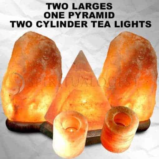 2 Large Salt Lamps, 1 Pyramid, 2 Tea Lights 99.99 !