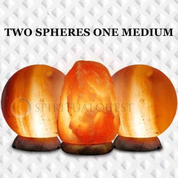 2 Spheres & 1 Medium Himalayan Salt Lamp 3 Piece Value/Gift Pack