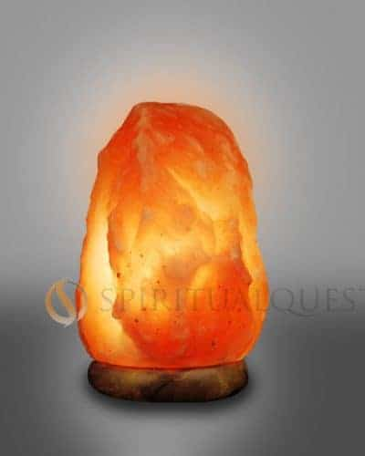 "Quasar Himalyan Salt Lamp Medium 7-9"" Tall 4-6lbs"