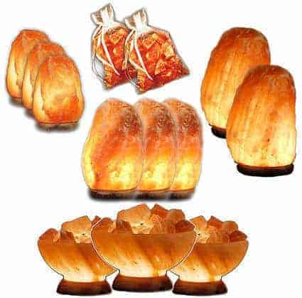Abundance & Wellness Himalayan Salt Lamp 13 Piece Value/Gift Pack