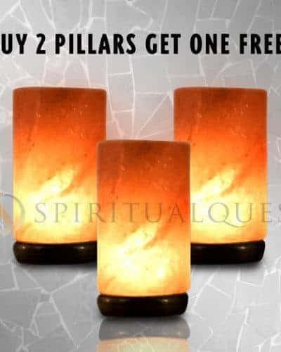 Buy Two Salt Lamp Pillars Get One Free! 7-8 lbs each!