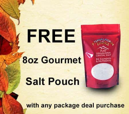 Free 8oz Himalayan Salt Pouch with Package Deal Purchase