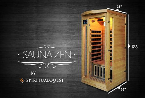"""Acappella Himalayan Salt Cave Infrared Sauna (Ultra Low EMF) - 36x36x75"""""""