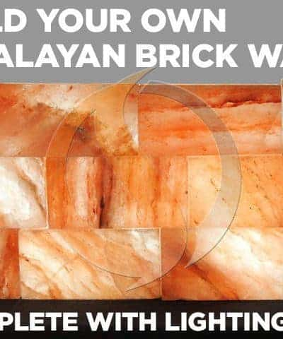 Himalayan Salt Brick Wall with Lighting Kit - 10 Bricks