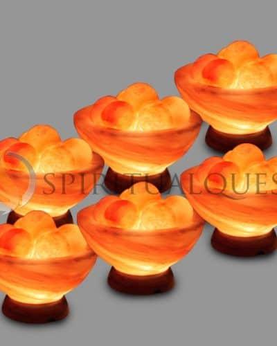 Abundance Himalayan Salt Bowl with Healing Balls - Wholesale