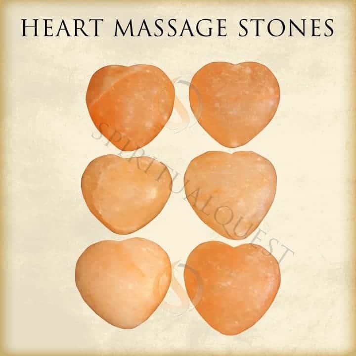 Heart Shaped Himalayan Massage Stones (6)