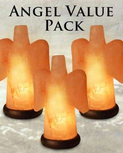 Angel Salt Lamp Value Pack (Set of 3) - Only ONE 3-Pack Left!!!