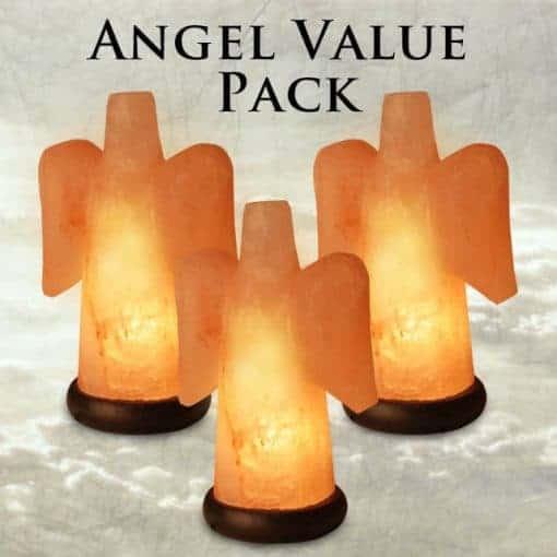 Angel Salt Lamp Value Pack (Set of 3) - Only ONE 3-Pack Left!!!