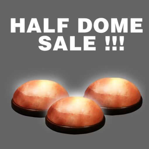 Salt Lamp Detox - Three (3) Half Dome Salt Lights