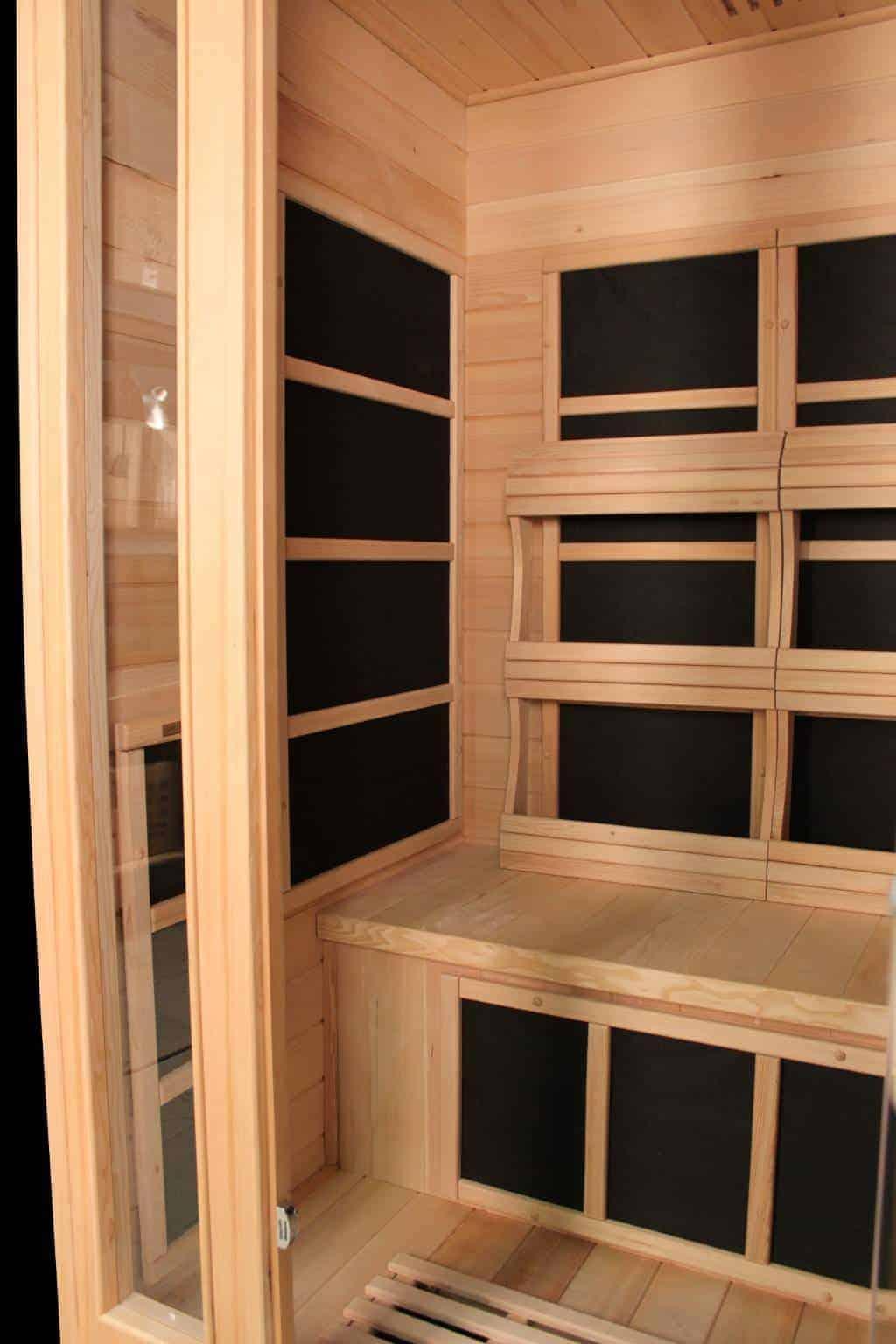 Infrared Sauna With Salt Wall In Nh Hotel Zandvoort The: Duet Infrared Sauna Salt Cave (2 Person)