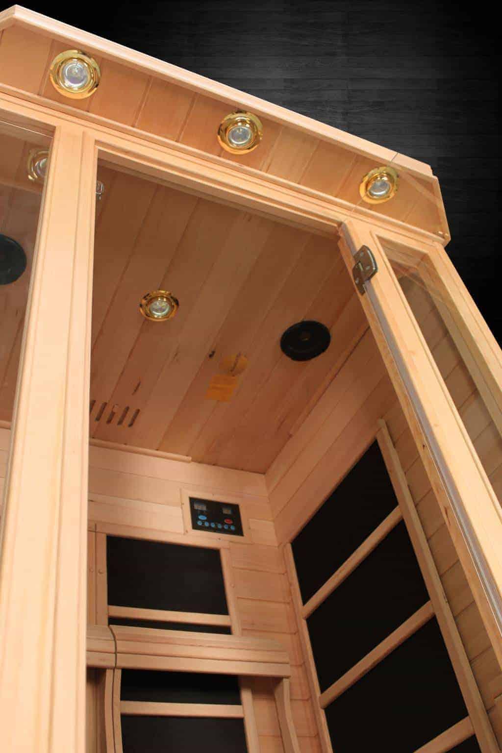 Duet Himalayan Salt Cave Infrared Sauna 2 Person 48x48x75 Display Unit