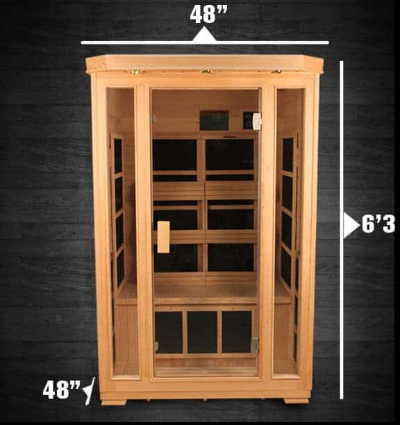 "Duet Himalayan Salt Cave Infrared Sauna (2 Person) - 48x48x75"" - DISPLAY UNIT"