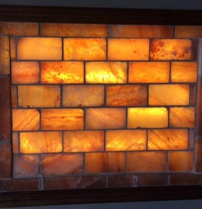 Himalayan Salt Brick Wall with Frame & Lighting Kit - 40-41 Bricks